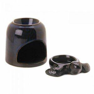 New: Blue Porcelain Turtle Oil Warmer